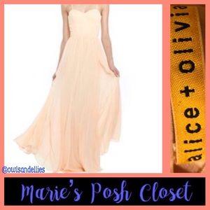 Gorgeous Pale Peach Flowy Dress